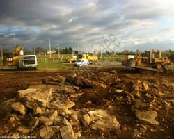 Sirmain Tp - Rignac - Terrassement - Aménagements - Création d'une plateforme pour la construction du Leclerc Drive de Figeac