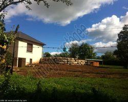 Sirmain Tp - Rignac - Aménagement extérieur - Réalisation d'une cour et d'un enrochement