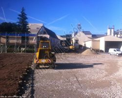 Sirmain Tp - Rignac - Terrassement - Réalisation de la plateforme pour création d'un bâtiment et d'un parking