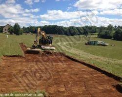 Sirmain Tp - Rignac - Décapage terre végétale - Viabilisation d'un lotissement - RIGNAC